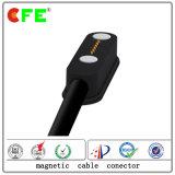 type mâle et cable connecteur magnétique femelle du rectangle 6pin pour le remplissage