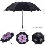 ثلاثة يطوي مطر مظال أنيق ورقة تصميم نساء يرصّ بنت ممطرة [سونّي دي] قوّيّة إطار مظال
