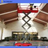 Levage automoteur hydraulique de ciseaux de plate-forme de levage de travail aérien d'homologation de la CE