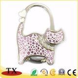 Adorável Gato bag bolsa Dobrável do Gancho de tubulação com exercícios de Cristal