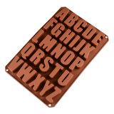 Прессформа штанги шоколада силикона оптового алфавита полости таможни 26 смешная