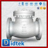 Válvula de verificación comercial de oscilación del acero de carbón de Wcb del aseguramiento de Didtek