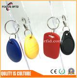 Contacto 125kHz 13.56MHz llavero RFID etiqueta para el Control de acceso