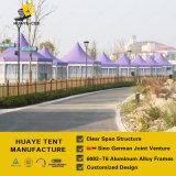 Пурпуровый шатер случая высокого пика крыши с немецкими стандартными стеклянными стенами (SMS)