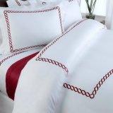 Cama Queen size 100% algodón bordado Edredón ropa de hotel (CCI230)