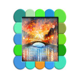 De nouveaux produits logo personnalisé et de la forme en PVC souple de promotion des cadres photo