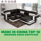 Mobília de canto moderna da HOME do couro do sofá para a sala de visitas