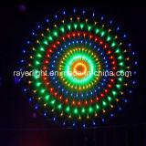 1.5M forma redonda com LED LED das luzes líquido decoração de malha