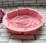Moulage de gâteau de forme de fleur de Rose de silicones de catégorie comestible pour la décoration