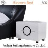 Base di cuoio reale della mobilia moderna della camera da letto