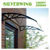 Pabellón de la esquina de aluminio de la azotea de los toldos de la puerta del policarbonato para el balcón (YY-B)