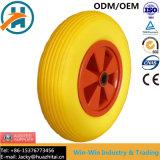 A roda do carrinho de PU de boa qualidade com aro plástico