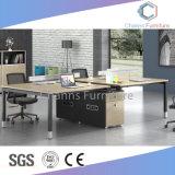 Partition moderne bleu Forme de l'armoire de bureau haut de table blanc (CAS-W31403)