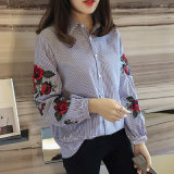 Embroidered Shirt Casual Fashion 숙녀