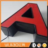 La carta de canal iluminada por encargo firma las letras de acrílico de 3D LED para los departamentos que hacen publicidad
