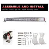 Comercio al por mayor 744W 42pulgadas cree curvo fila cuatro de la barra de luz LED para Jeep Wrangler SUV camión tractor