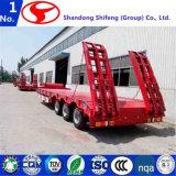 60 ton 3 Semi Aanhangwagen van het Bed van de As de Lage/Semi Aanhangwagen Lowbed/de Lage Semi Aanhangwagen van de Lader voor Verkoop