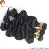 Человеческие волосы горячего сбывания естественные черные бразильские сырцовые