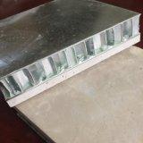 Panneau en aluminium en pierre de marbre réel de nid d'abeilles pour le revêtement de mur