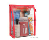 PPによって編まれる昇進のギフトの化粧品が付いている透過PVCは構成袋を袋に入れる