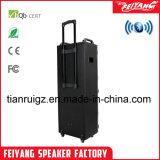 Novos produtos no exterior o carrinho da bateria portátil DJ altifalante com luz colorida F10-23