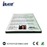 Брошюра печатание 4.3 цифров видеоего цвета дюйма многофункциональная TFT для дела
