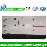 produção de eletricidade ajustada de geração Diesel de 181kVA 145kw Yuchai com dossel silencioso