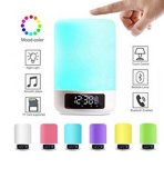Cambiamento livellato di colori di luminosità 6 dell'indicatore luminoso 4 di notte di colore di Dimmable degli altoparlanti di Bluetooth delle lampade di lato del letto