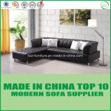 Mobília moderna L ajustado sofá do canto do couro da forma