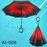 Parapluie promotionnel inversé par inverse à l'envers Inside-out de véhicule de traitement de l'impression C d'OEM