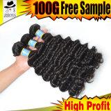 安いバージンのブラジルの毛の束、卸売のブラジルの人間の毛髪のよこ糸は織り方の加工されていないブラジルのバージンのRemyの人間の毛髪の織り方で縫う