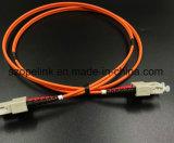 섬유 광학적인 접속 코드 Sc Sc 쌍신회로, 광섬유 통신망을%s mm