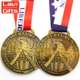 Venda por grosso de desporto Personalizado Antique gold plating Medalha de miniatura de Metal