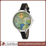 Lederne Armbanduhr der Quarz-Uhr-Dame-Fashion Casual Analog Bracelet