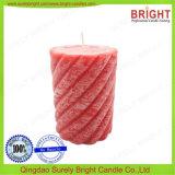 As velas do pilar de FLOCO GROSSO para decoração