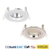 Bague en aluminium moulé Twist Rock Downlight le dispositif 3W/5W Downlight Led