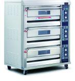 Horno eléctrico de la panadería de la máquina 3 de la bandeja profesional de la cubierta 6 con el certificado del Ce