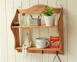 Подгоняно 2 деревянного слоям шкафа /Shelf хранения стены с крюками