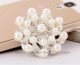 ラインストーンの花の花嫁の結婚式Pinの真珠のブローチはのための飾る(BR-20)