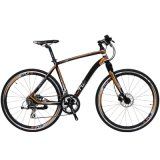 bici di alluminio della strada di città di 700c 16speed con la singola forcella della sospensione