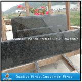 Parte superior verde natural pré-fabricada da vaidade do banheiro da pedra do granito de Verde Ubatuba