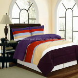 Nice Rainbow Color Micro Suede Wedding Manta de Retalhos/Bedding Set