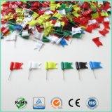 Быстро расходные 30мм пластиковые красочные волнистый флаг контакт