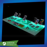 Teléfono móvil de la manera que hace publicidad del estante de visualización con el LED