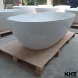 Baignoire de pierre de résine acrylique, baignoire extérieure solide de Corain