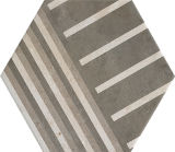azulejo de suelo de cerámica del cemento de 260*300m m modelo gris geométrico del hexágono del vario