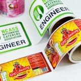 Etiqueta engomada cortada con tintas impresión de encargo para las mercancías
