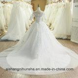 Слоновая кость кружева Русалки свадебные платья элегантный цветочный рукава устраивающих Gowns