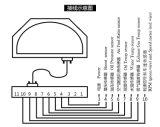 Приборная панель цифровой манометр для 12V Всеобщей автомобилей