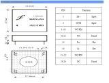 6000VAC de Zender van de Huidige Lijn van de isolatie 4-20mA (0-20mA)